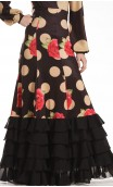 Granada Polka-Dots Long-Skirt w/ 6 Panels
