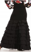 Letizia 8 Ruffles Long-Skirt