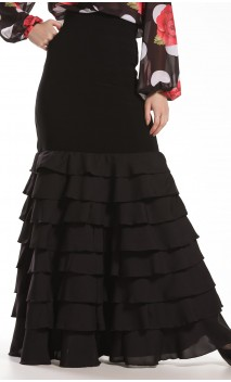 Letizia 8 Ruffles Long-Skirt