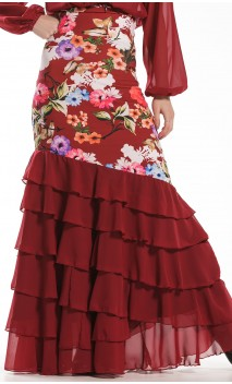 Neo Garden Long-skirt 6 Ruffles