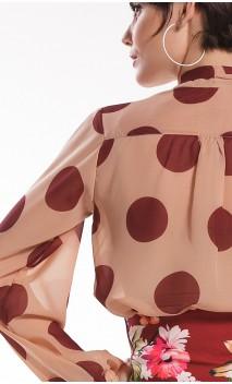 Polka-dots Neo Crepe Leotard-Shirt