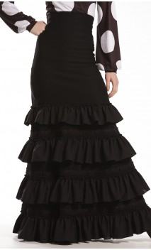 Tanya 4 Ruffles Long-Skirt