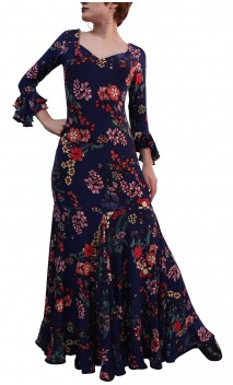 Liza Godet Printed Long-Dress