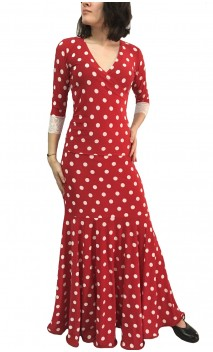 Sevilla Polka-Dots Skirt & Top Flamenco Set