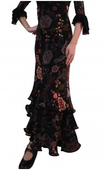 Printed Eva Collin Long-Skirt
