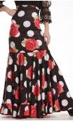 Naju Printed Long-Skirt Extra Godet