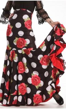 Falda Flamenca Naju Estampada Extra Godet