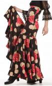 Naju Printed Long-Skirt Extra Godet