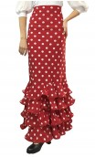 Polka-dots Luiza 4 Ruffles Long-skirt