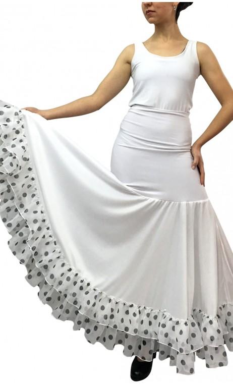 Godet Petticoat w/Printed Ruffles