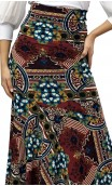 Edy Printed Godet Long-Skirt