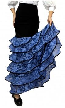Córdoba 6 Lace Ruffles Long-Skirt