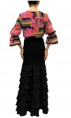 Camisa Arabesque Tipo Malla con Manga Ablusada