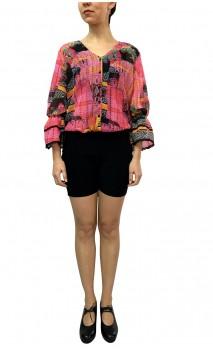 Camisa-Shorts Arabesque Manga Bufante