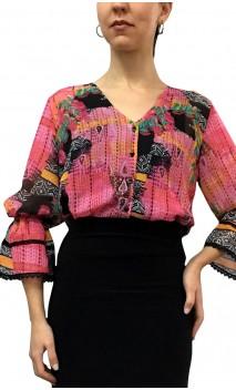 Camisa-Colant Arabesque Manga Bufante