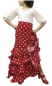 Polka-dots Luiza 4 Ruffles Girls Long-skirt