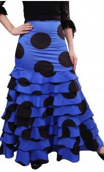 Falda Flamenca Letizia Lunares 8 Volantes