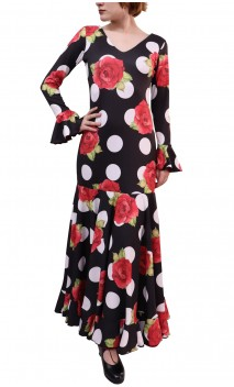 Floral Luna Godet Long Dress