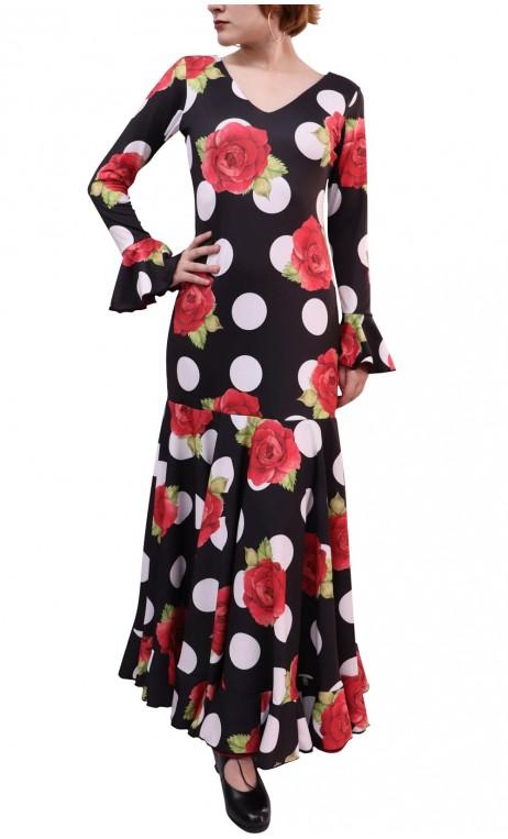 Floral Luna Godet Long Dress