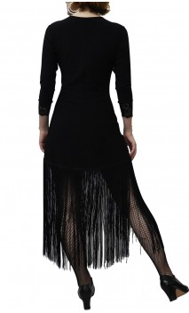 Vestido Corto Nadine c/Flecos
