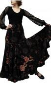 Virna Floral Long-Skirt Extra Godet