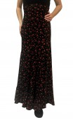Daisy Printed Godet Long-Skirt