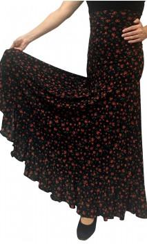 Daisy Printed Godet Long-Skirt