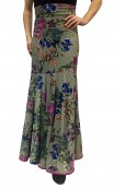 Floral Marian Godet Long-Skirt