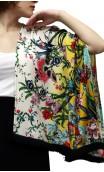 Chaqueta Estilo Kimono Estampado Floral