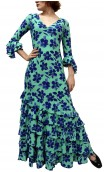 Vivian Printed Long-Dress