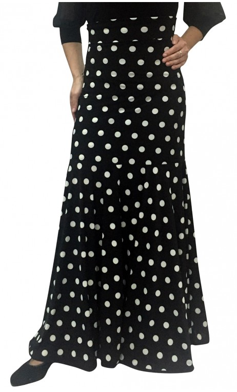 Polka Dots Marian Godet Long-Skirt