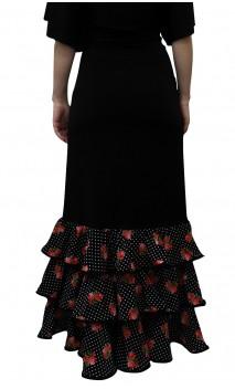 Eva Long-Skirt 3 Printed Ruffles