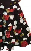 Saia Letizia Floral 8 Babados