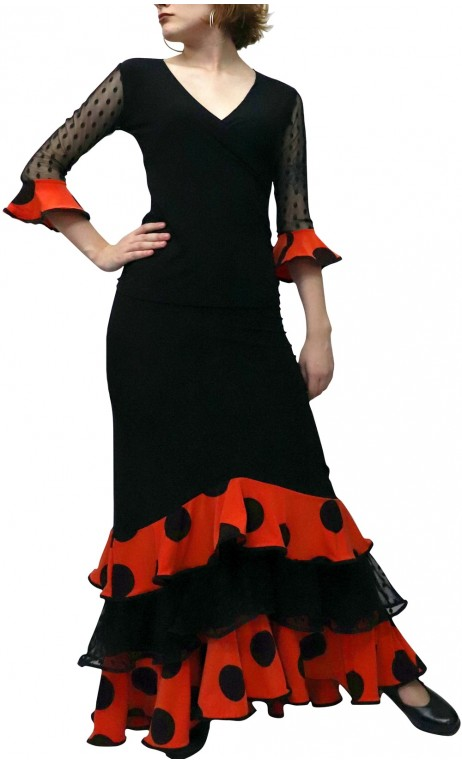 Eva Polka-Dots Skirt & Blouse Set