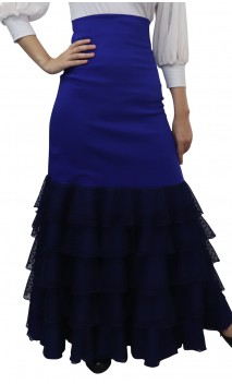 Carmela Long-skirt 6 Ruffles Tulle