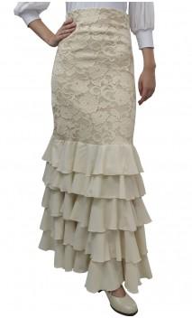 Lace Detail Thereza Long-skirt 5 Ruffles