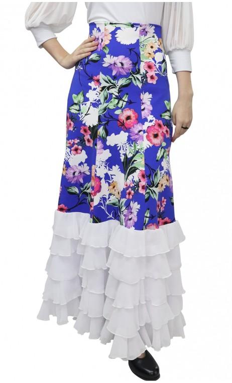Andalucía Printed Long-Skirt w/ 6 Panels