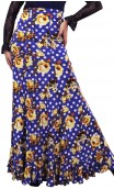 Printed Maya Long-Skirt w/ Panels