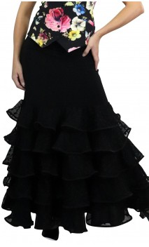 Thereza Polka-dots Tulle Long-skirt