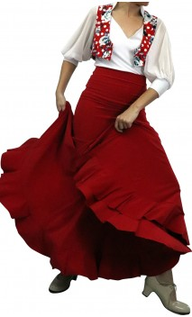 Falda Flamenca Cyrena Extra Godet