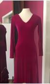 Pink Velvet Dress w/ Yellow Petticoat