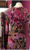 Rose Floral Long-Dress 4 Ruffles