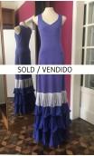 Vestido Azul c/Flecos