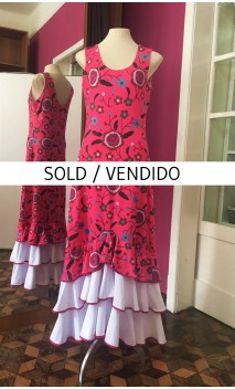 Vestido Floral Pink 3 Babados