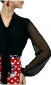 Clarice Blouse with Neck Strap