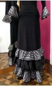 White Satin Lace Skirt & Blouse Set