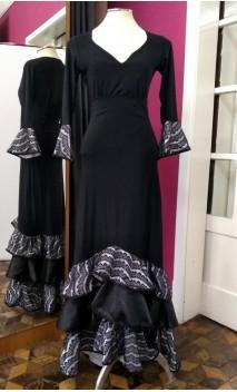 Conjunto Falda & Blusa Encajes de Satin Blanco