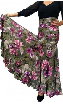 Ester Floral Long-Skirt Extra Godet
