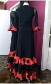 Black & Orange Skirt & Blouse Set