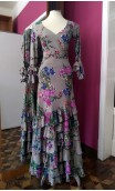 Conjunto Falda & Blusa Beige Floral